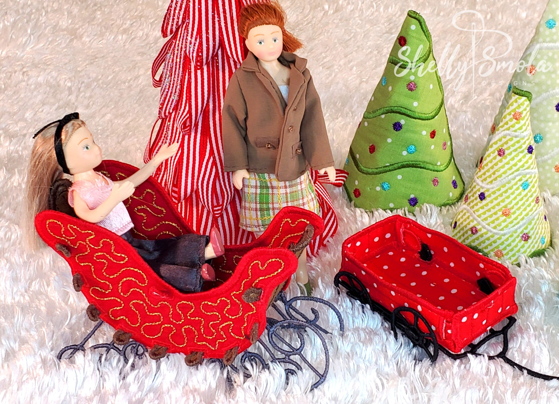 Merry Mini Ornaments by Shelly Smola