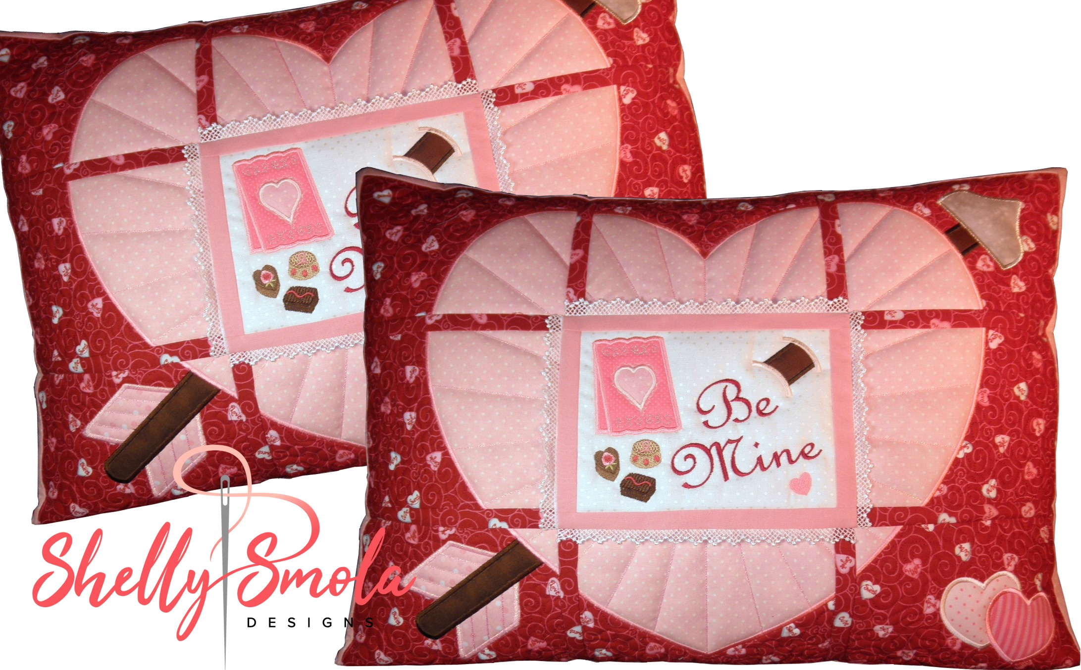 Be Mine Pillows by Shelly Smola