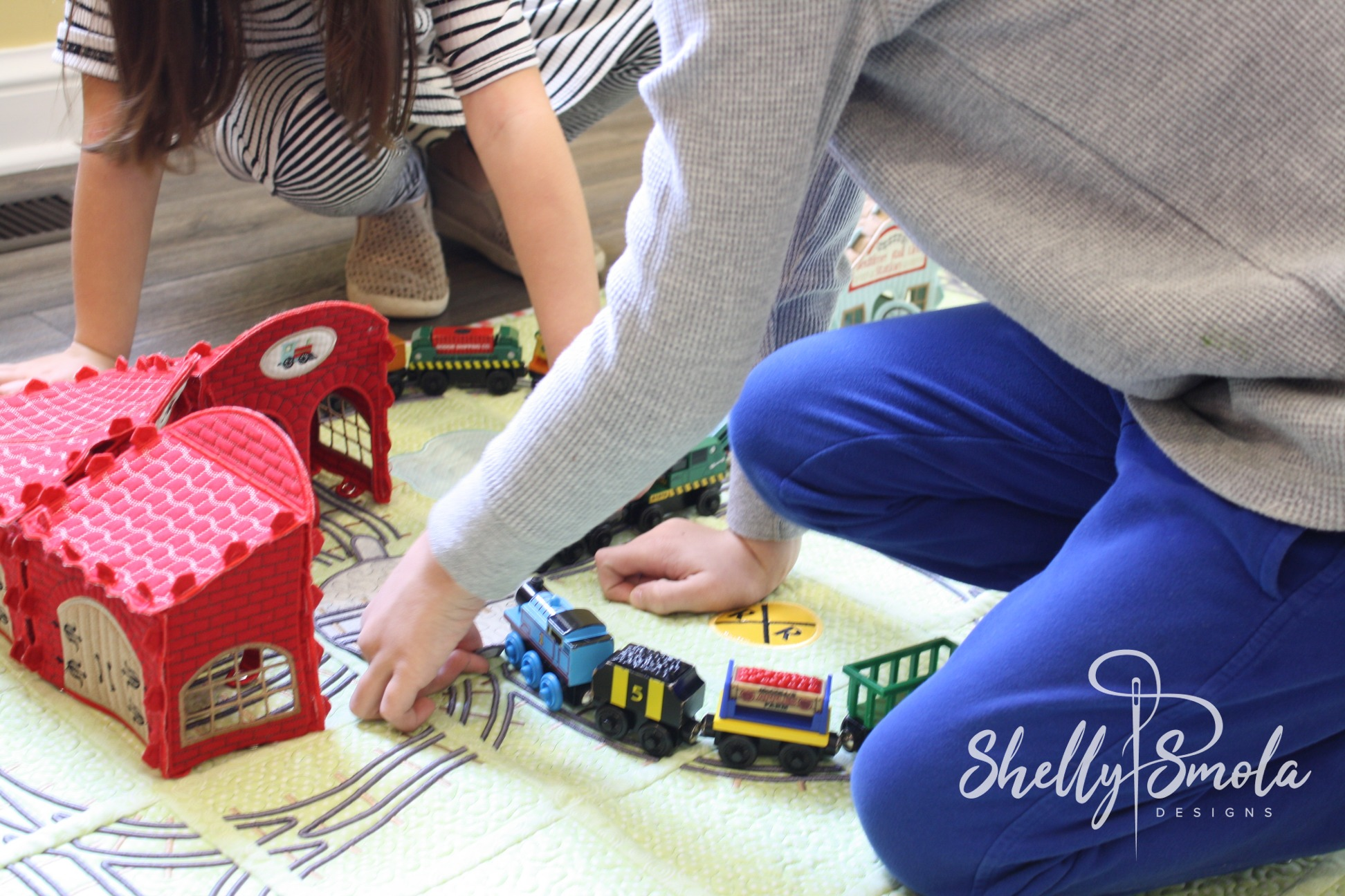 Bedtime Rail Line with Kate and Des by Shelly Smola