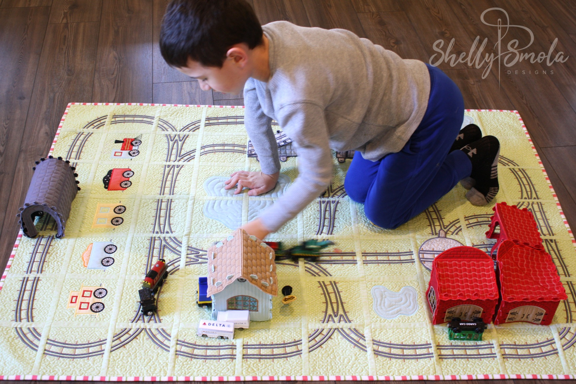 Bedtime Rail Line with Des by Shelly Smola