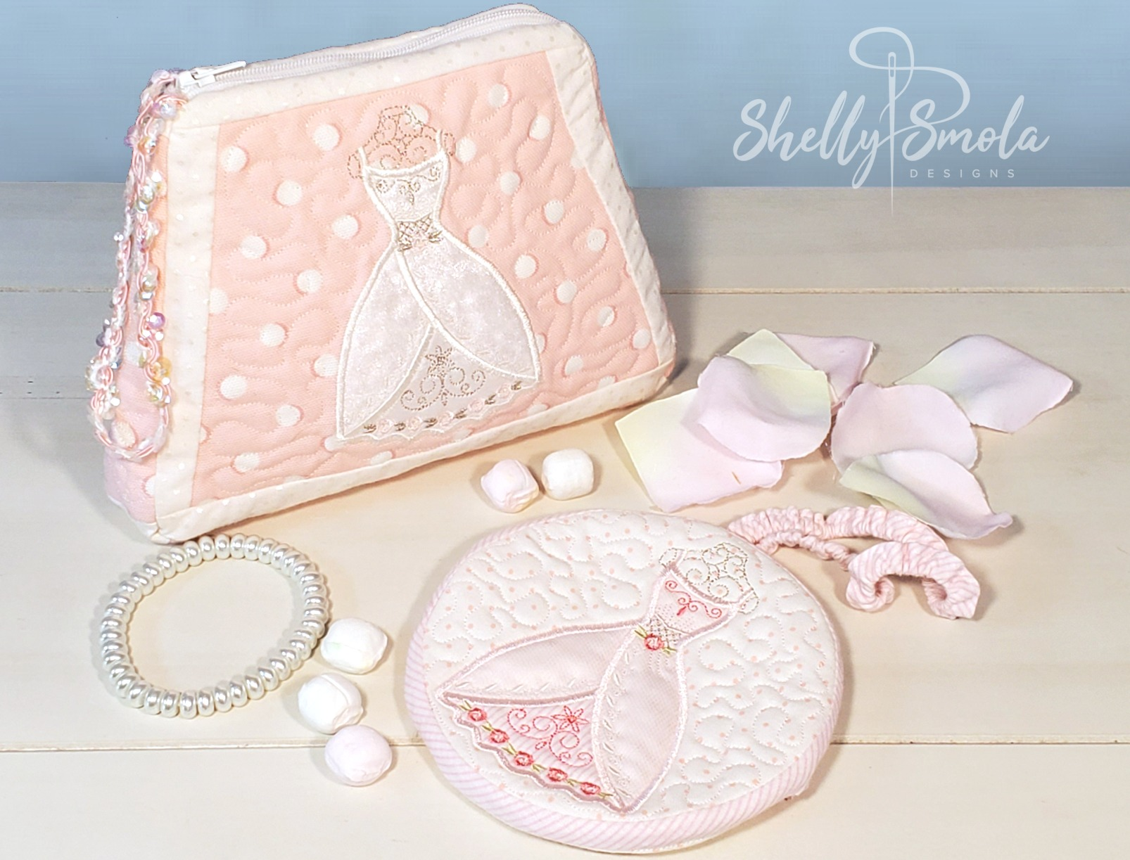 Embroidered Bridal Purse