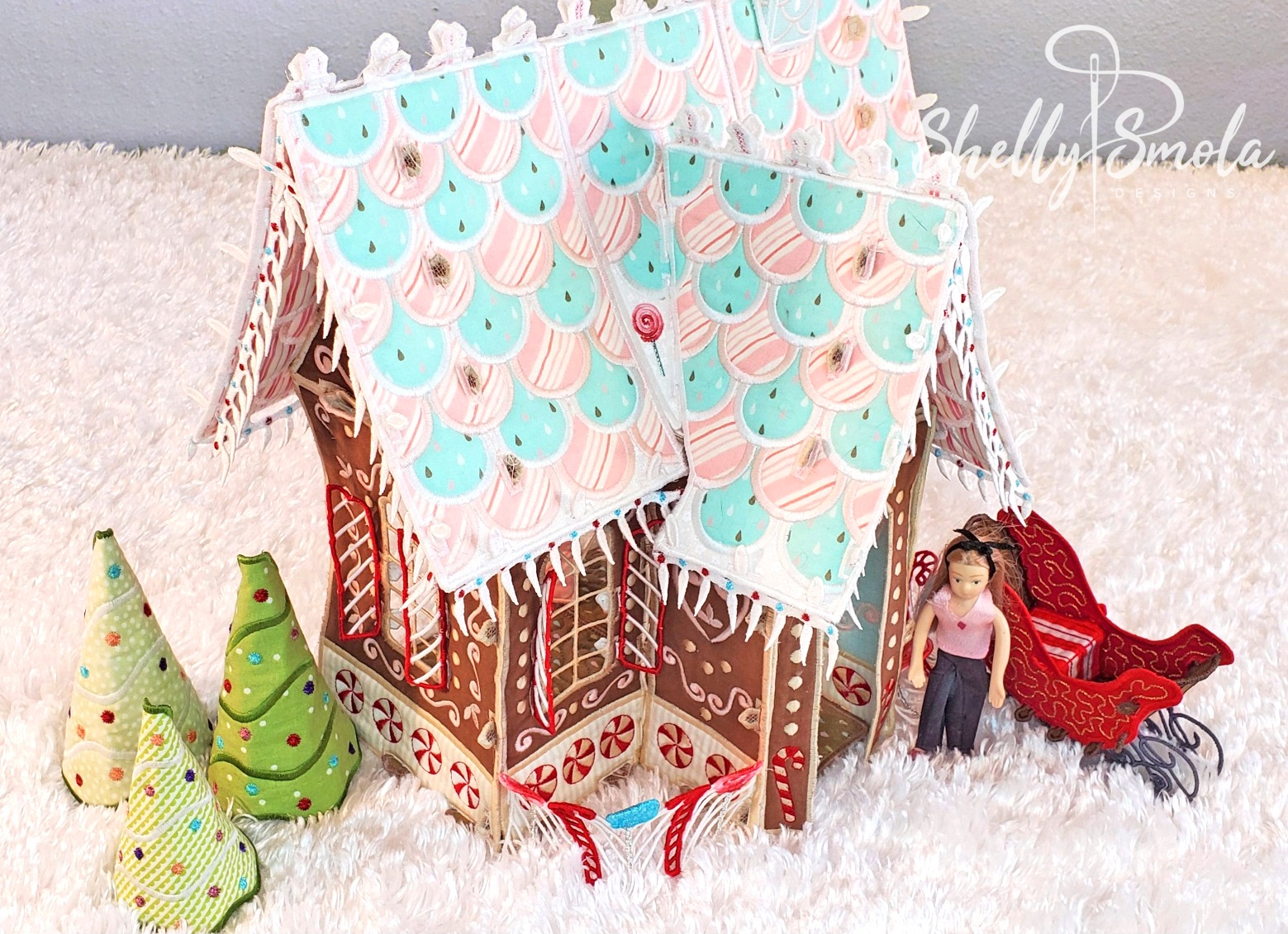 Candy Lane Cottage Side View by Shelly Smola