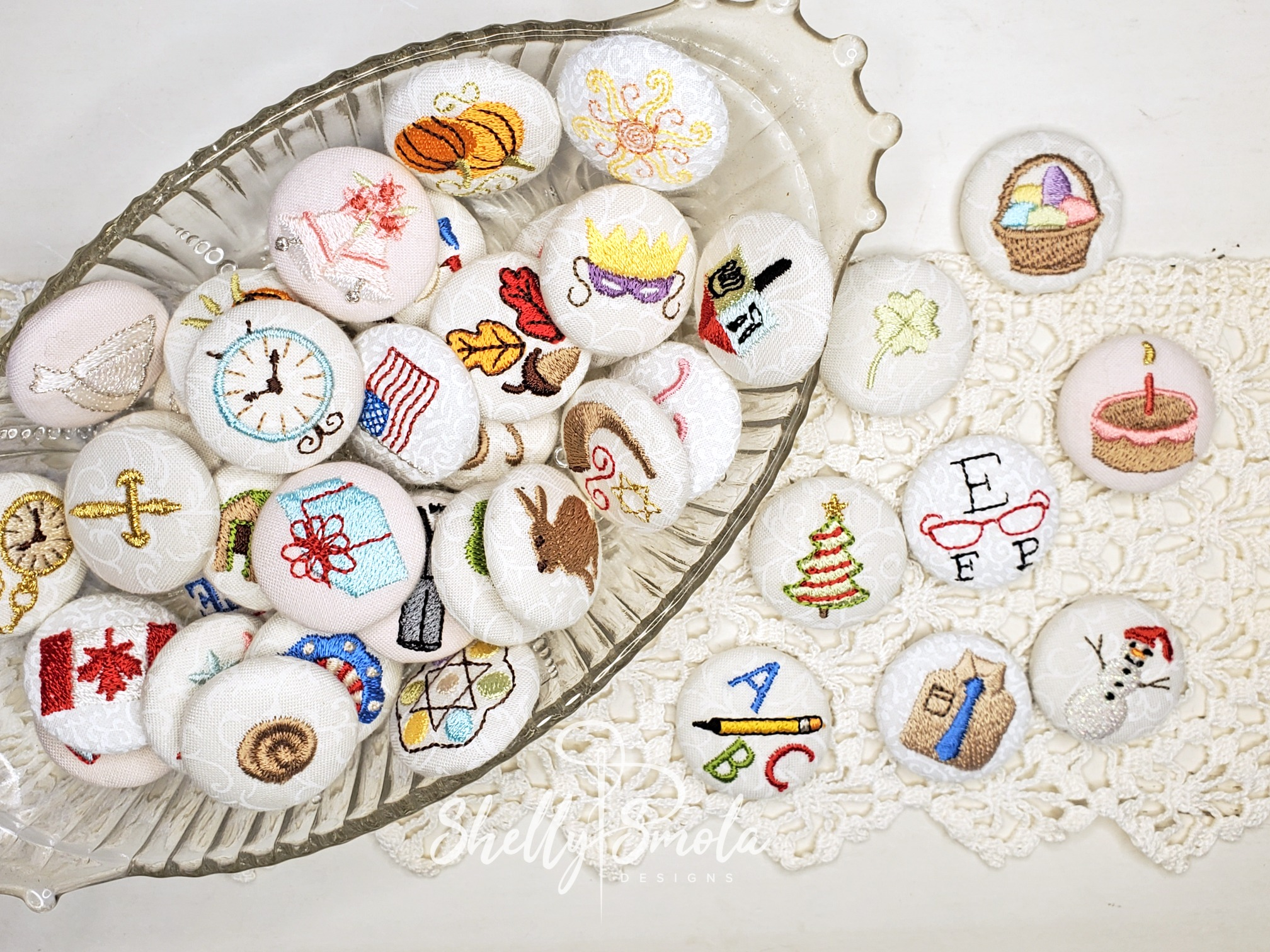 Button Covers by Shelly Smola