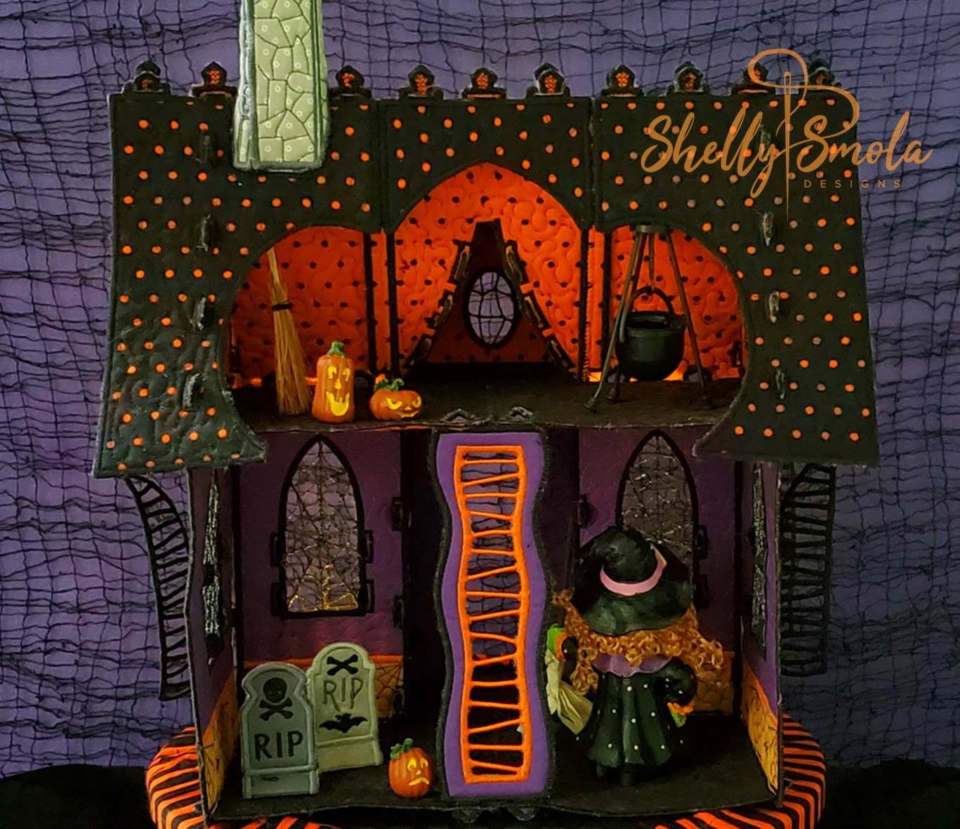 Embroidered Halloween Haunted House