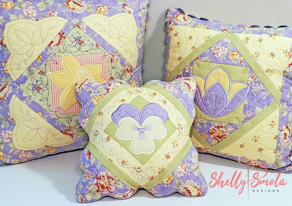 Flower Garden Quilt Projects by Shelly Smola