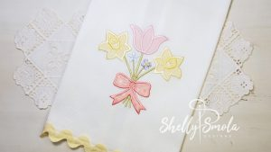 May Bouquet Applique by Shelly Smola