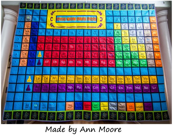 Periodic Table of the Elements made by Ann Moore