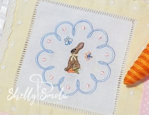 Spring Accent Bunny by Shelly Smola