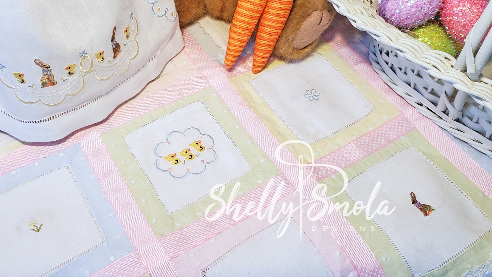 Spring Accent Coverlet by Shelly Smola
