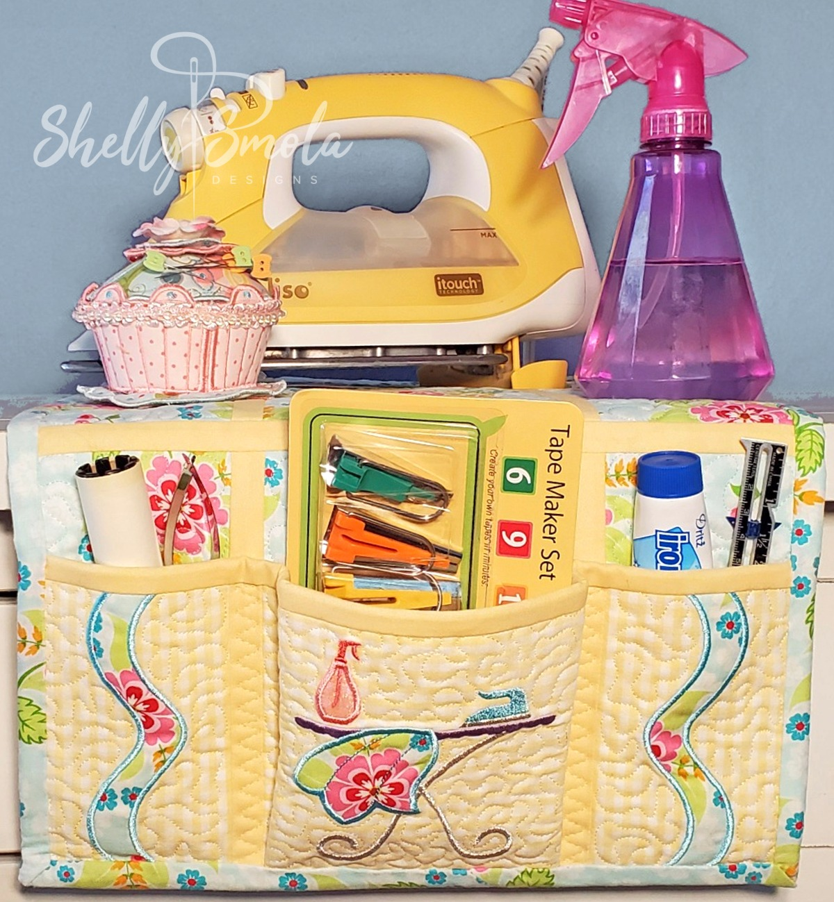 Sew Hot Ironing Board Caddy by Shelly Smola Designs