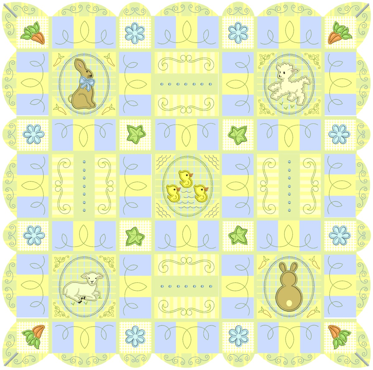 Scalloped Sweet Spring Quilt by Shelly Smola