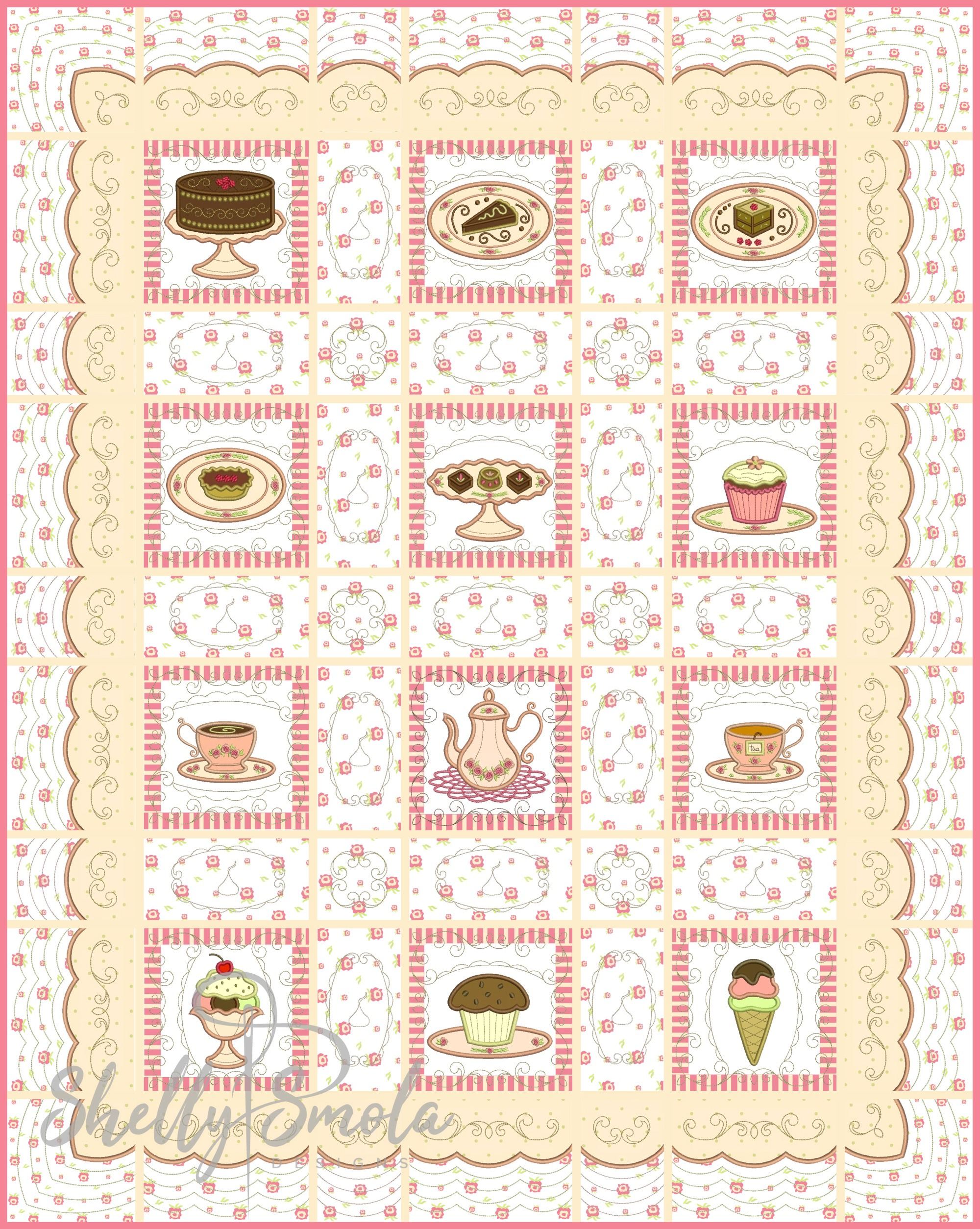 Sweet Temptations Quilt Layout Idea by Shelly Smola