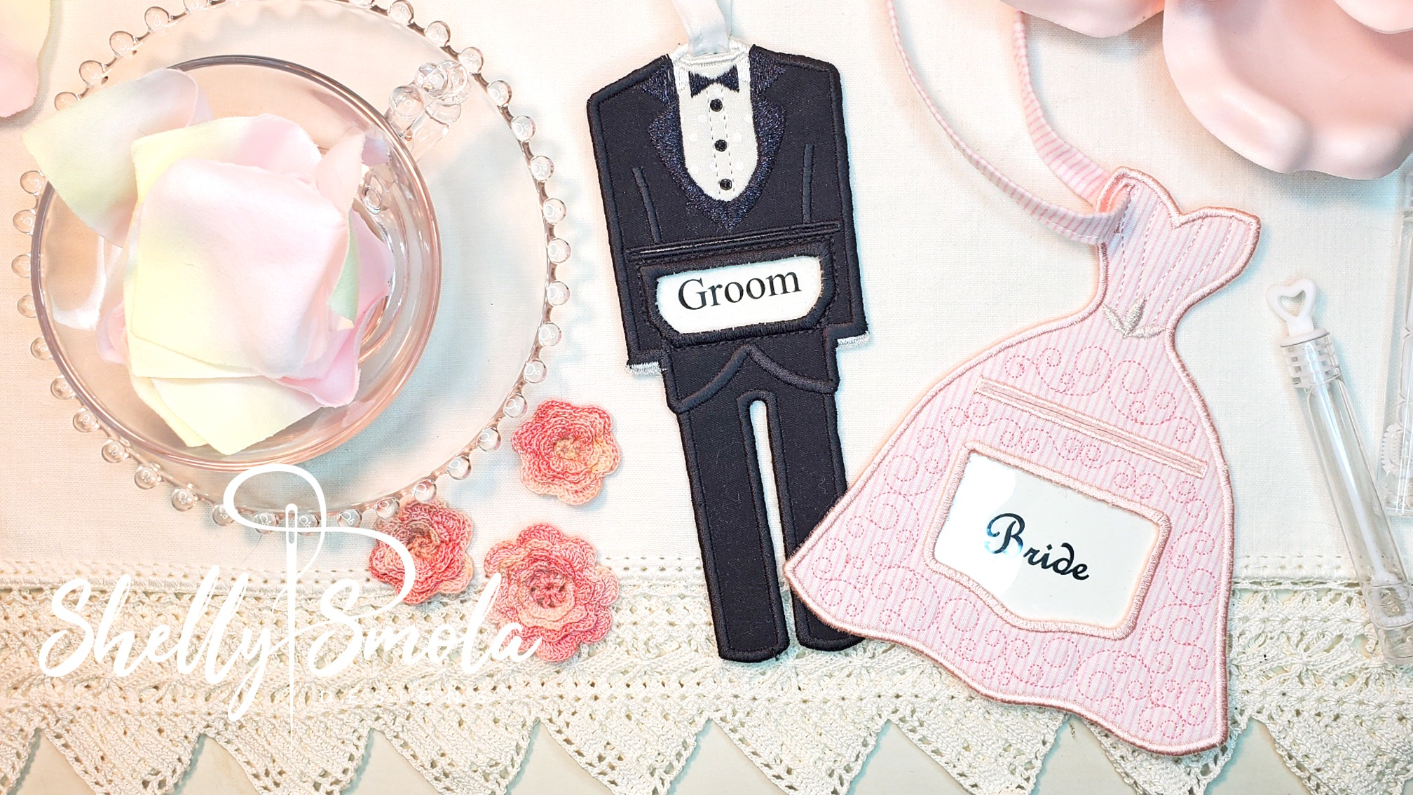 Bride and Groom Tags by Shelly Smola