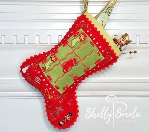 Tic Tac Toe Stocking by Shelly Smola