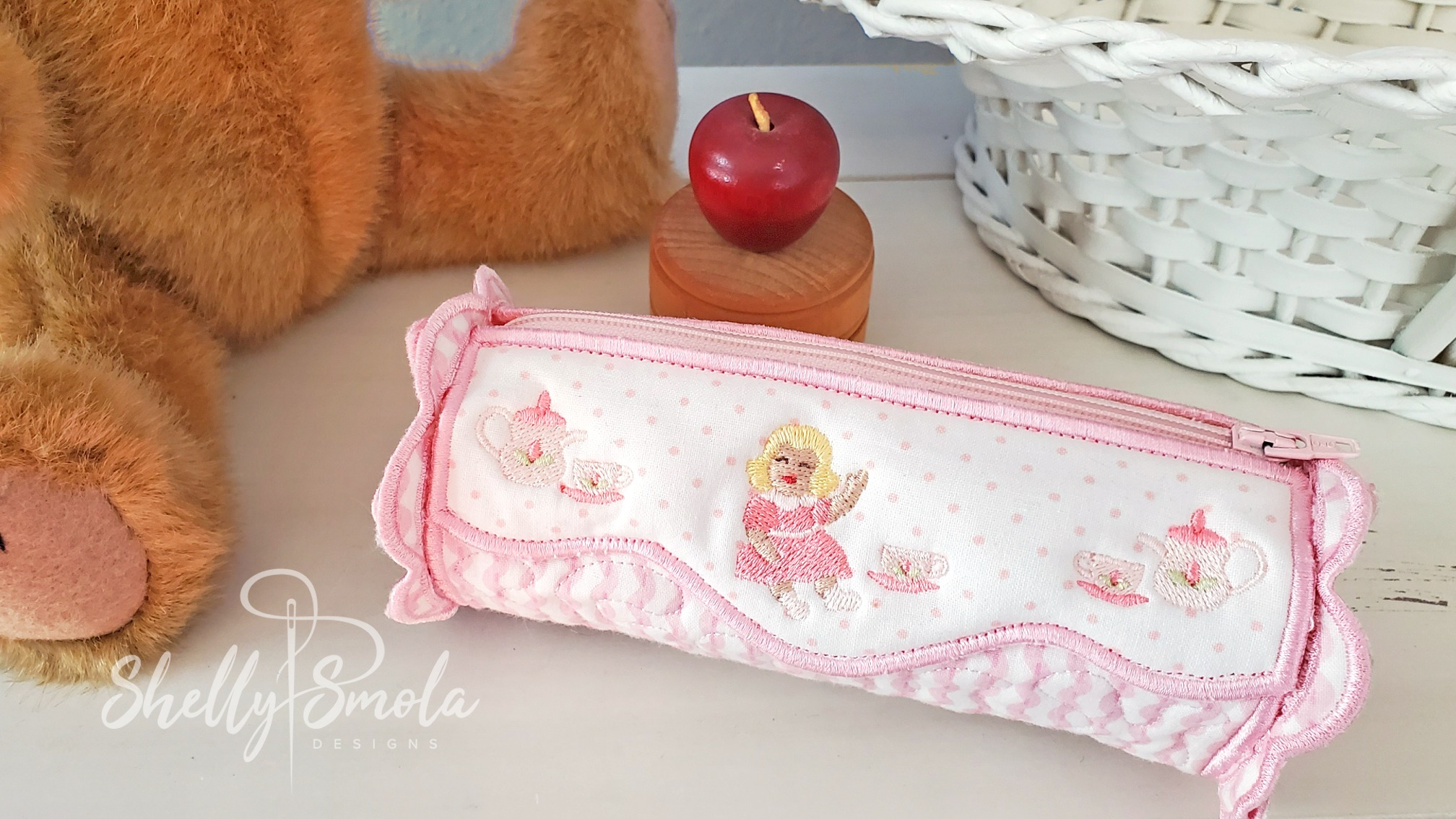 Embroidered Pencil Case