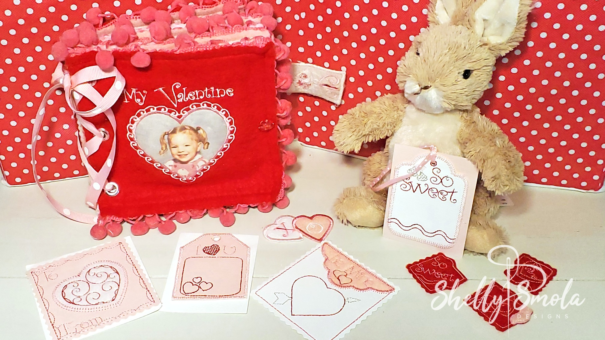 Valentine Quiet Book with Accessories by Shelly Smola