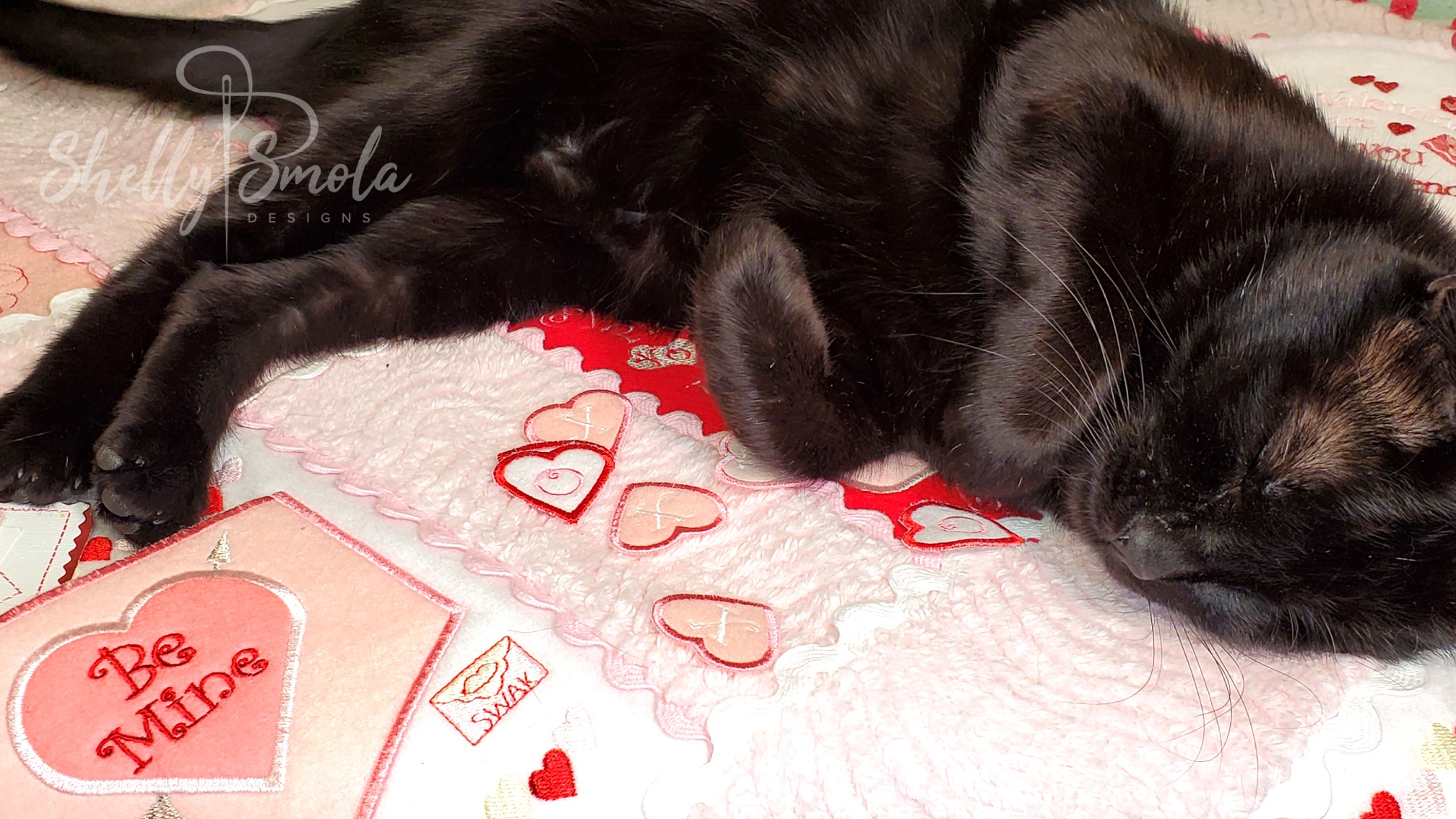 Valentine Quiet Quilt with Spooky