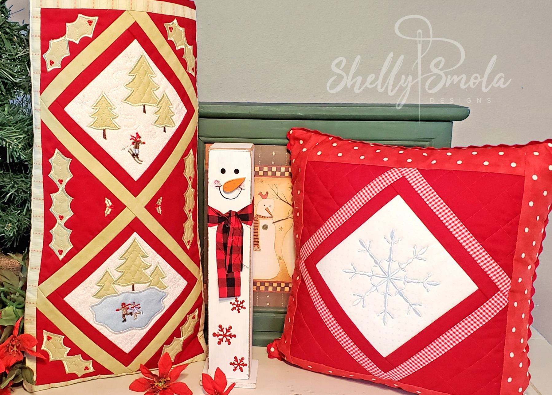 Winter Wonderland Gift Bag and Pillow by Shelly Smola