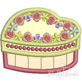 Heart Box Applique by Shelly Smola