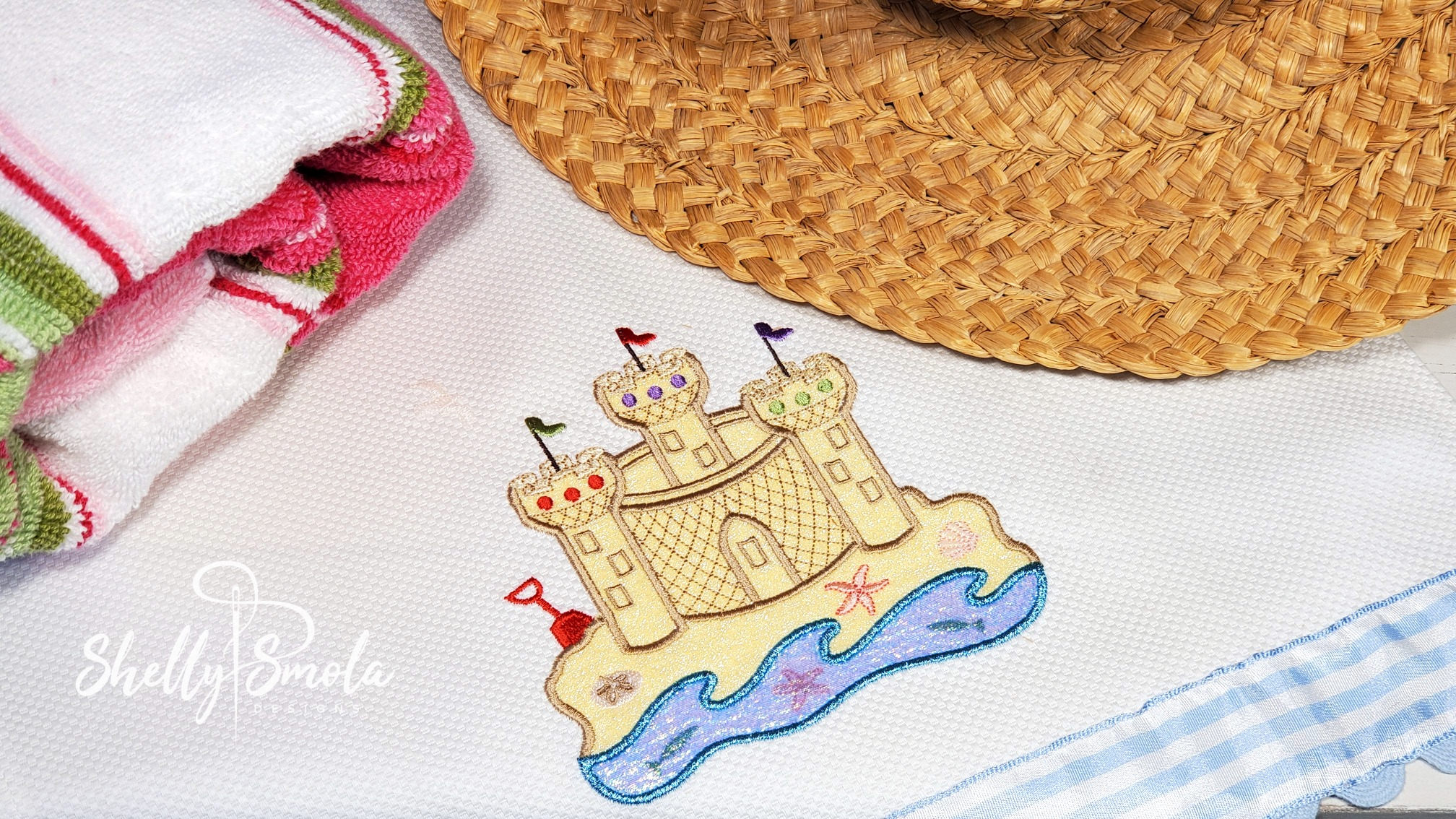 Embroidered Sandcastle