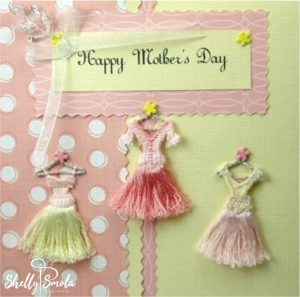 My Fair Spring Ladies decorate this card.