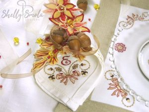 Autumn Bouquet Napkin by Shelly Smola