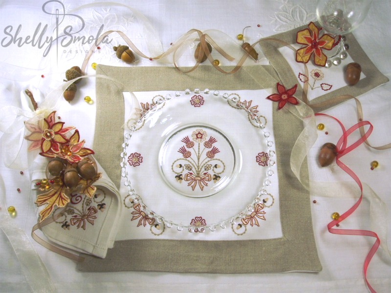 Autumn Bouquet Place Setting by Shelly Smola