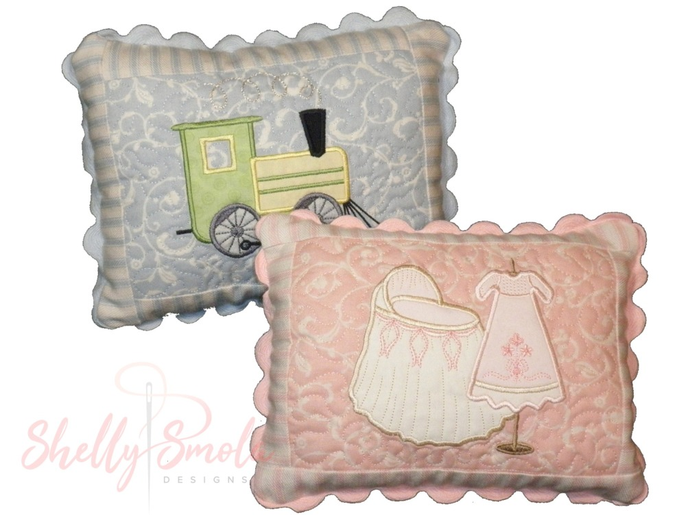 Baby Basket Pillows by Shelly Smola