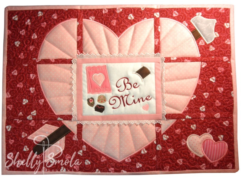 Be Mine Placemat by Shelly Smola