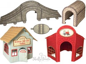 Bedtime Rail Line Accessories by Shelly Smola