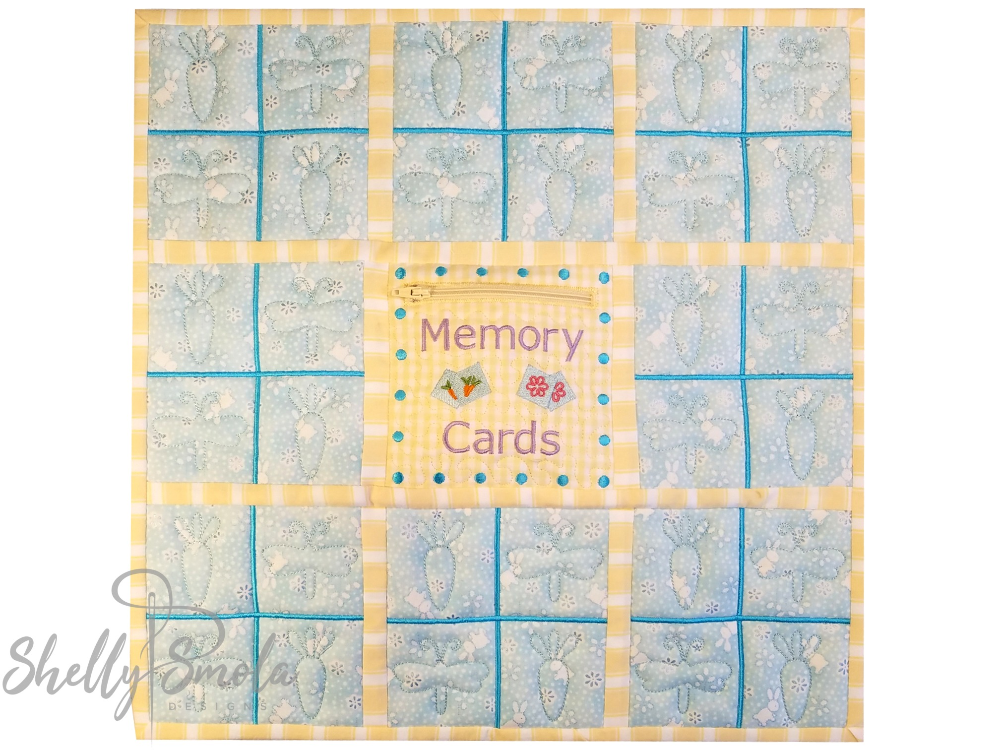 Easter Memory Game Quilt by Shelly Smola