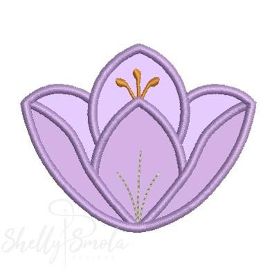Flower Garden Applique Crocus by Shelly Smola