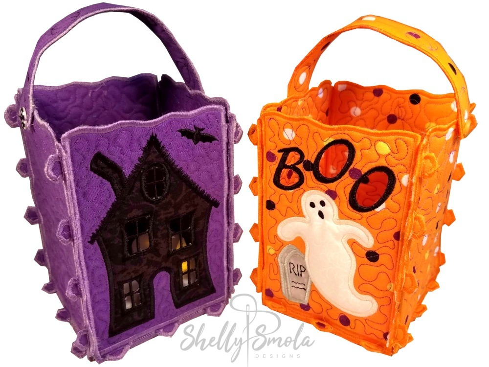Haunted House and Ghost Lantern by Shelly Smola