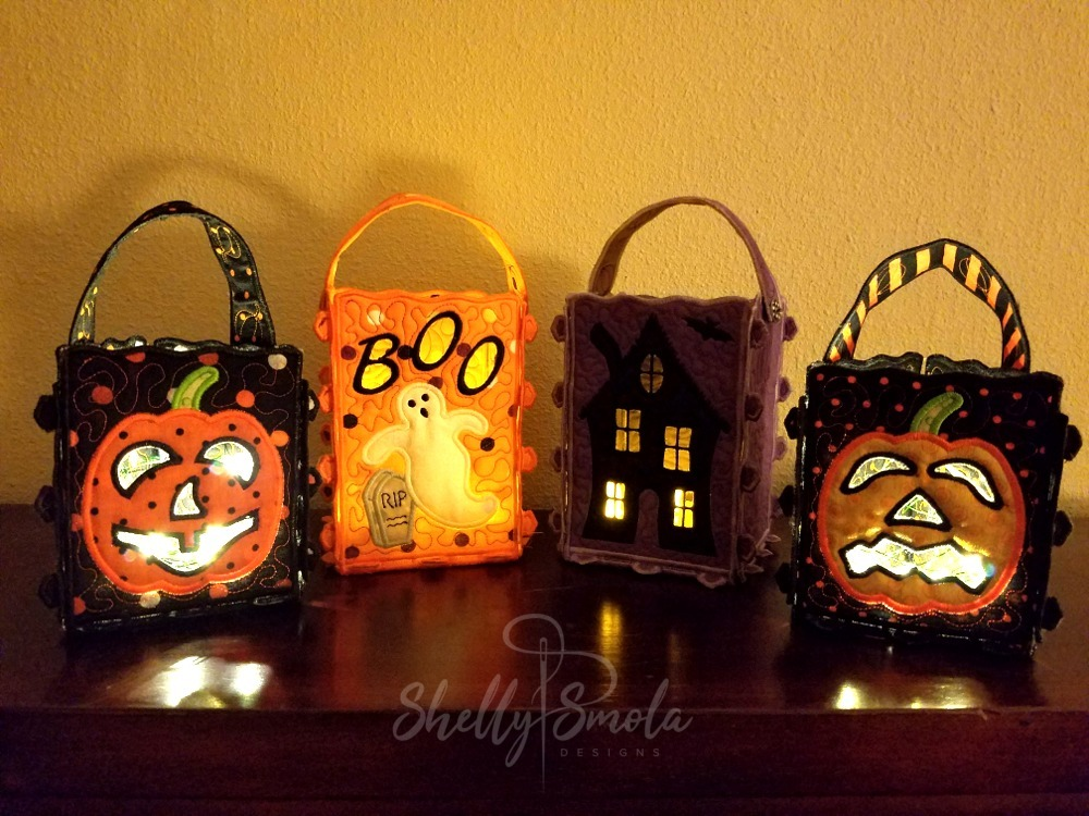 Halloween Lanterns at Night by Shelly Smola