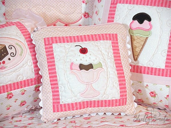 Sweet Temptations Quilt Pillows by Shelly Smola