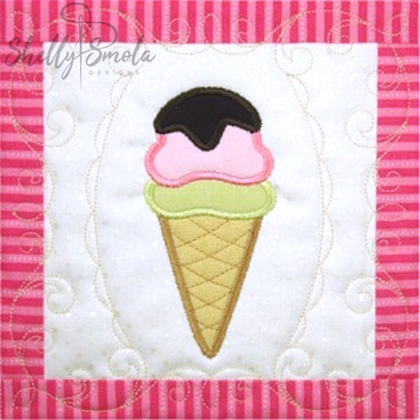 Sweet Temptations Quilt Ice Cream Cone by Shelly Smola
