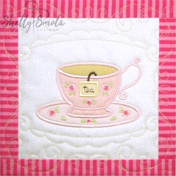 Sweet Temptations Quilt Tea Cup by Shelly Smola