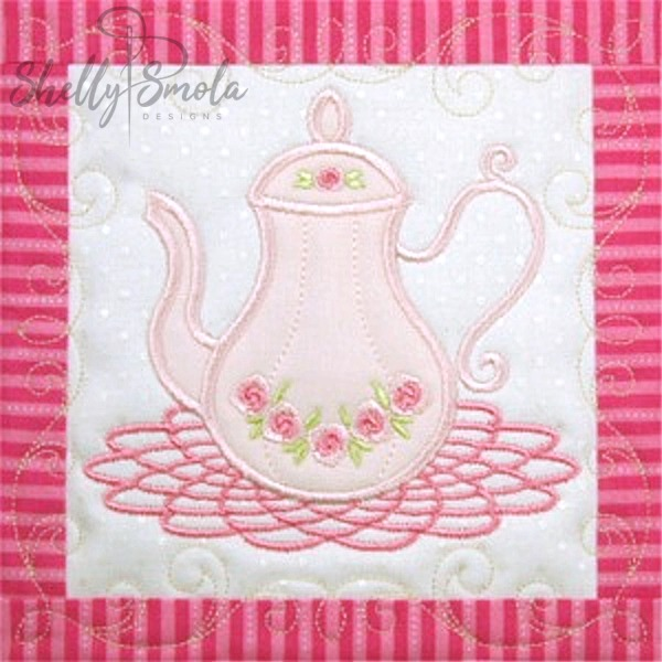 Sweet Temptations Quilt Tea Pot by Shelly Smola