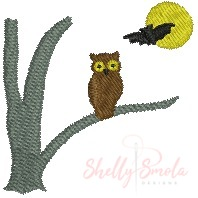Owl in a Tree by Shelly Smola
