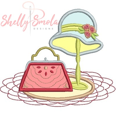 Tiny Tote appique by Shelly Smola