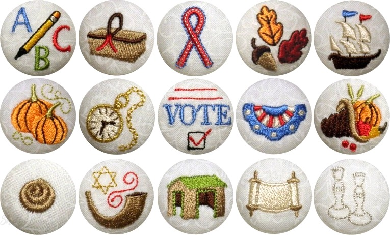 Fall Holiday Button Covers