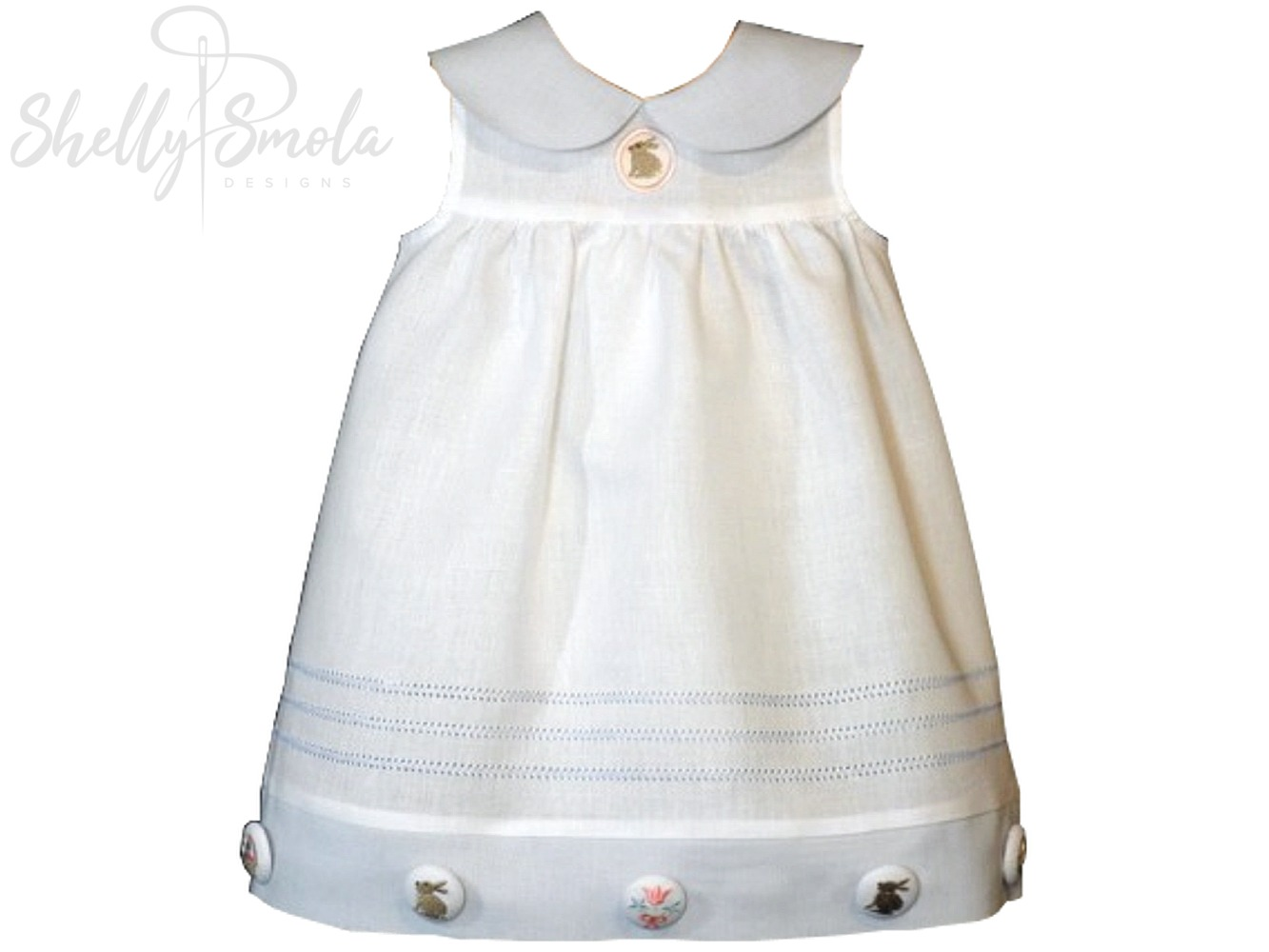 Spring Holiday Button Cover Dress by Shelly Smola