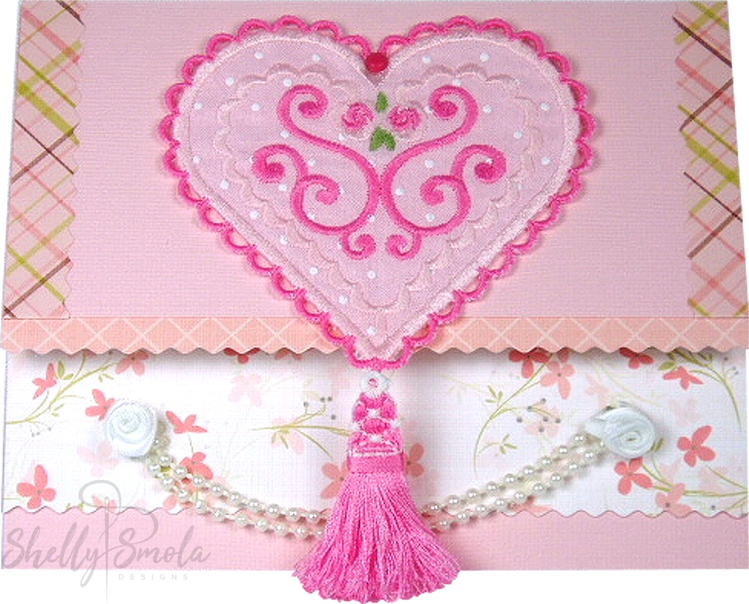 Sweetheart Applique Card by Shelly Smola