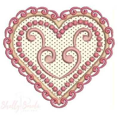 Sweetheart Applique by Shelly Smola