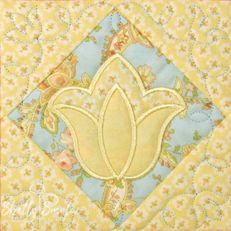 Spring Quilt Tulip by Shelly Smola