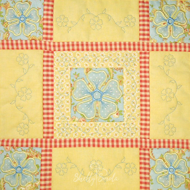 Spring Quilt Periwinkle Block by Shelly Smola