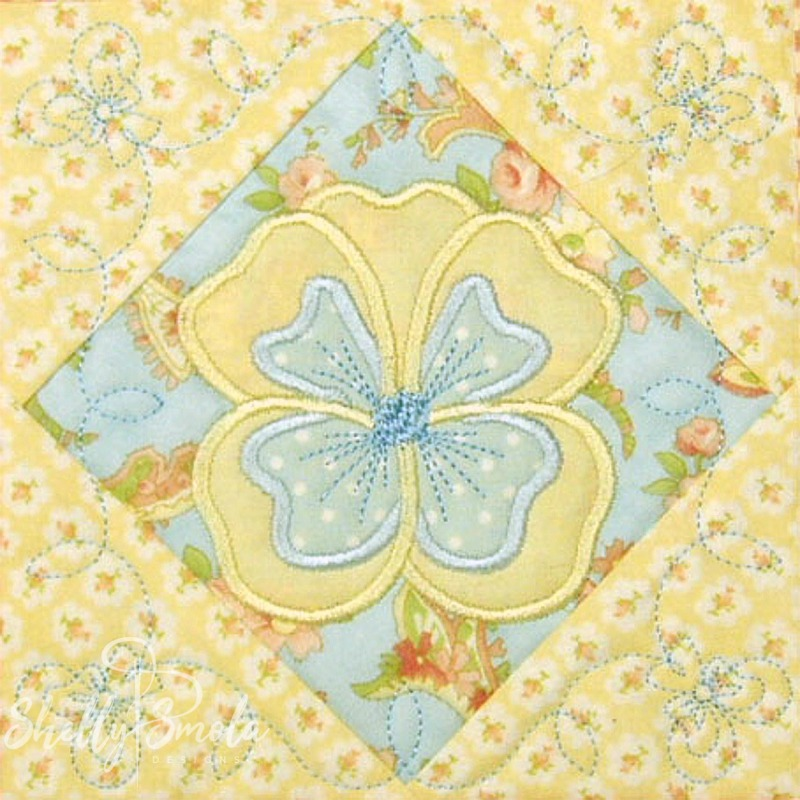 Spring Quilt Pansy by Shelly Smola