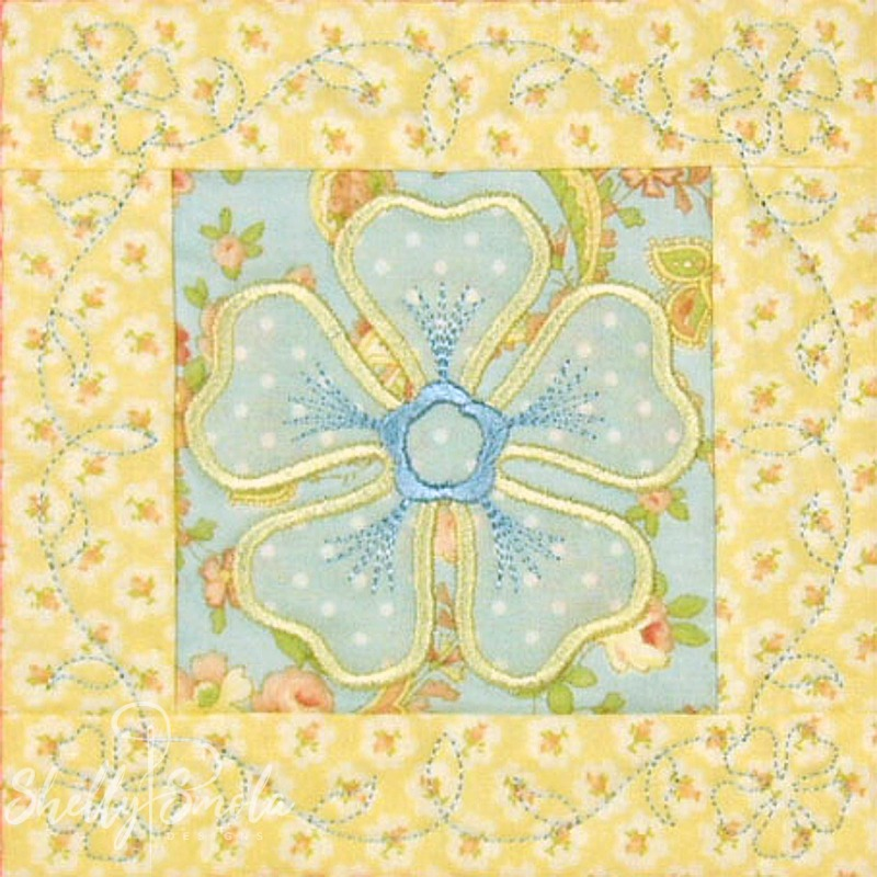 Spring Quilt Periwinkle by Shelly Smola