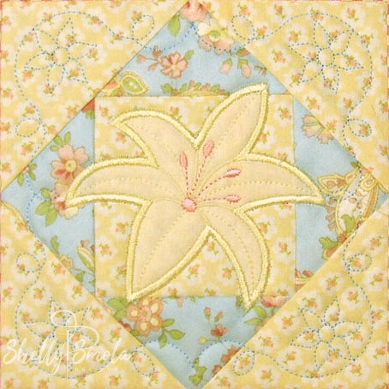 Spring Quilt Lily by Shelly Smola