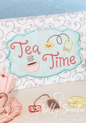 Embroidered Tea Time Quilt